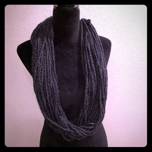 Accessories - Never worn grey scarf with white gathering